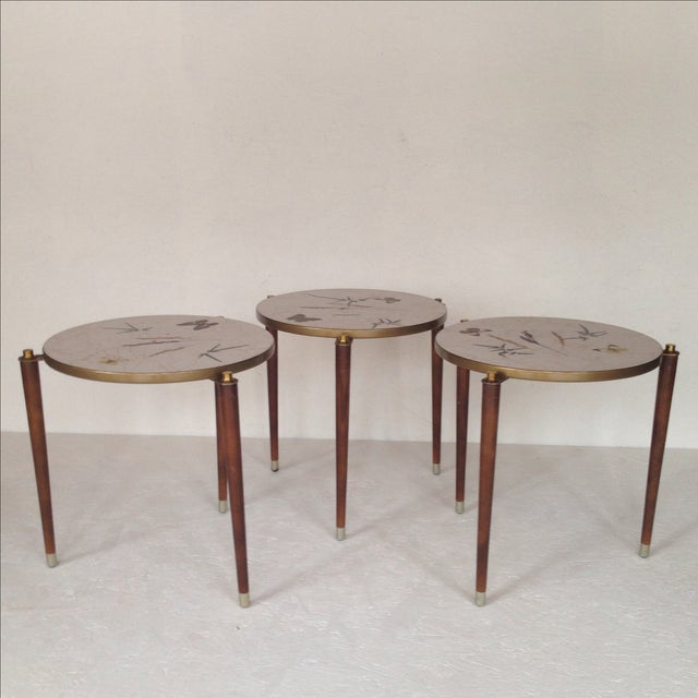 Fornasetti Style Stacking Tables - Set of 3 - Image 2 of 8