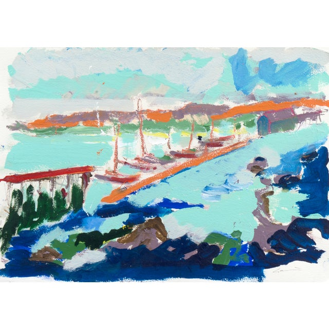 Monterey Harbor Painting by Robert Canete - Image 1 of 7