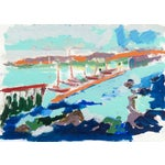 Image of Monterey Harbor Painting by Robert Canete