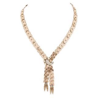 Reinad Snakeskin-Style Link Necklace