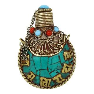 Tibetan Turquoise Snuff Bottle