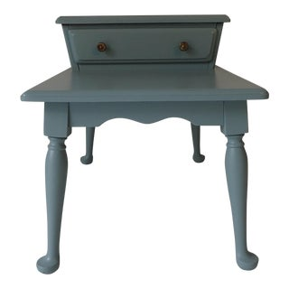 Beach Cottage Midcentury Finnish Nightstand 22 x 28 x 19W Excellent New Paint french Provence Blue