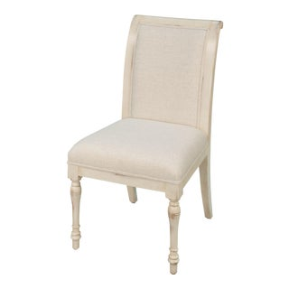 Sarreid LTD White Walnut Dining Side Chair