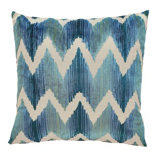 "Piper Collection Blue Velvet ""Mary"" Pillow"