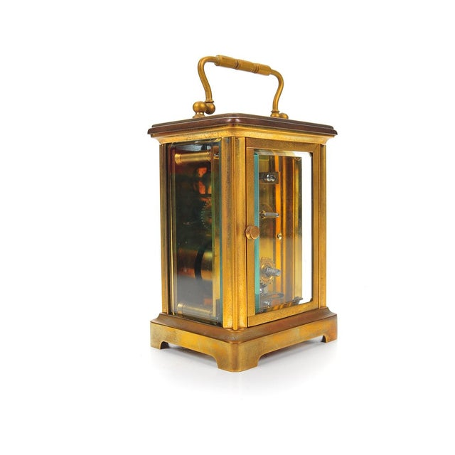 Stowell & Co. Antique Brass Carriage Clock - Image 4 of 9