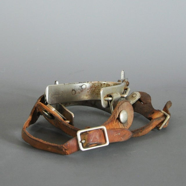Image of Vintage Signed Bull Riding Spurs