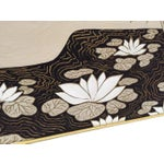 Image of Vintage Abstract Lotus Canvas Art Work