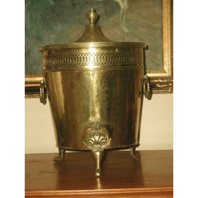 Image of English Early 1900's Brass Coal Hod