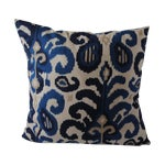 Image of Custom Blue Ikat Pillows - A Pair