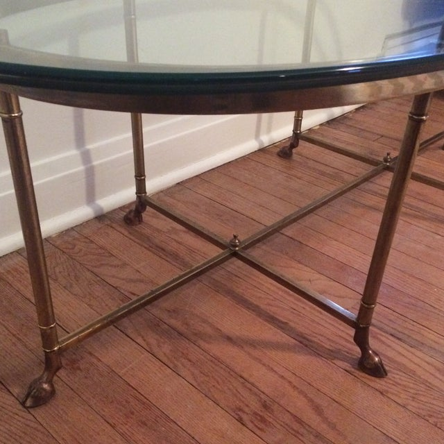 La Barge Gilt Glass Coffee Table - Image 4 of 6