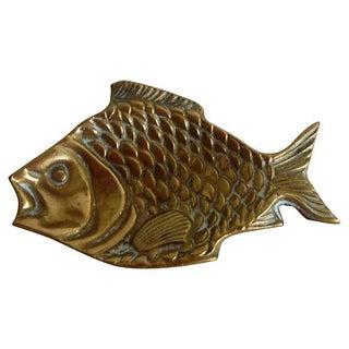 Vintage English Brass Fish Tray