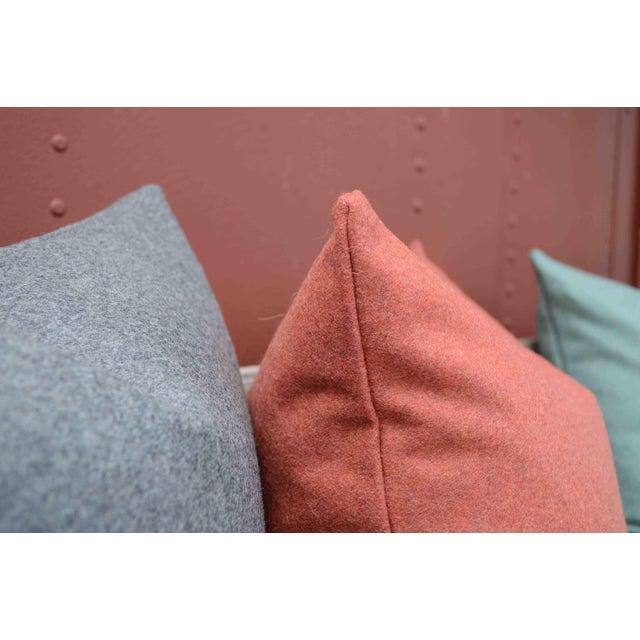 Italian Orange Sustainable Wool Pillow - Image 4 of 6