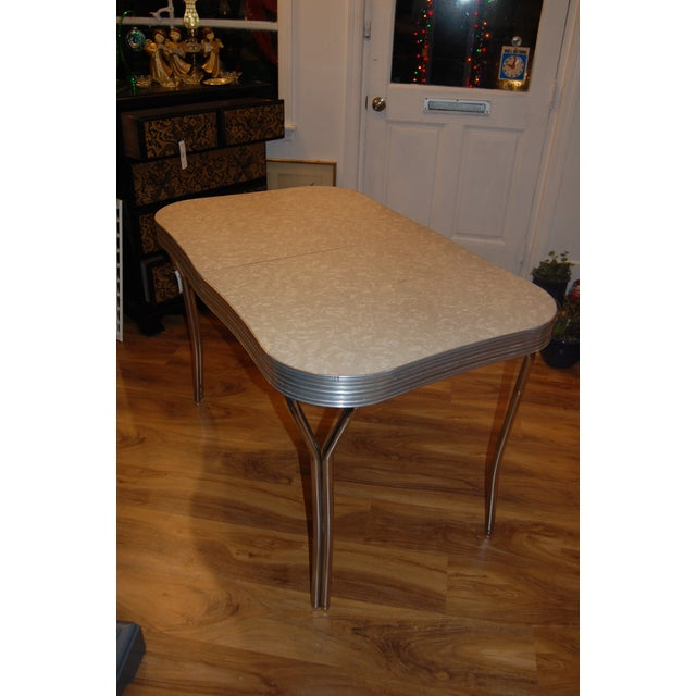 1950s Y-Leg Chrome Dining Table - Image 3 of 6