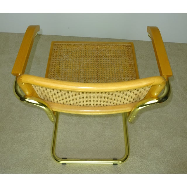 Marcel Breuer Cesca Brass Armchairs A Pair Chairish