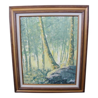 Impressionist Oil on Board Painting by M. Randolph House