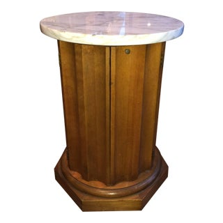 Marble Top Round Cabinet Table