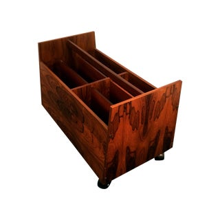 Bruksbo Rosewood Danish Modern Magazine Holder