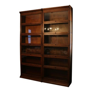 Gunn Sectional Lawyers Bookcases - a Pair