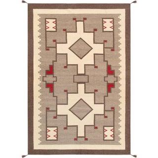 "Navajo Hand-Woven Area Rug - 5'11"" X 8'10"""