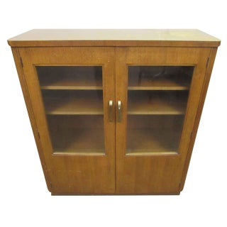 Art Deco Cabinet With Glass Front