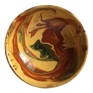French Provencal Glazed Terra Cotta Bowl