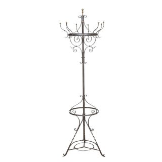 Wrought Iron Hat/Coat Stand