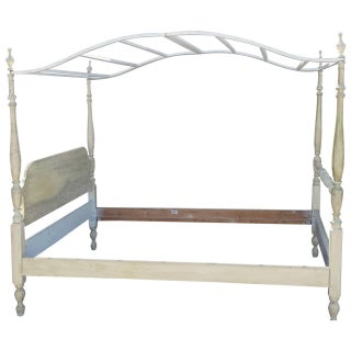 Canopy Bed, Painted French Country Style