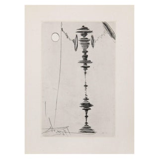 Salvador Dali Deux Fatraises Spinning Man Etching