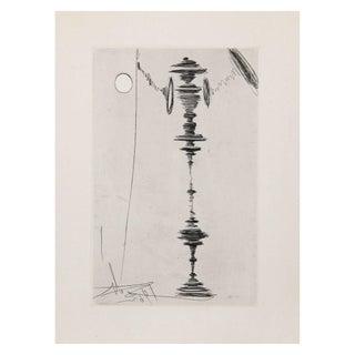 Salvador Dali Deux Fatraises Spinning Man Etching