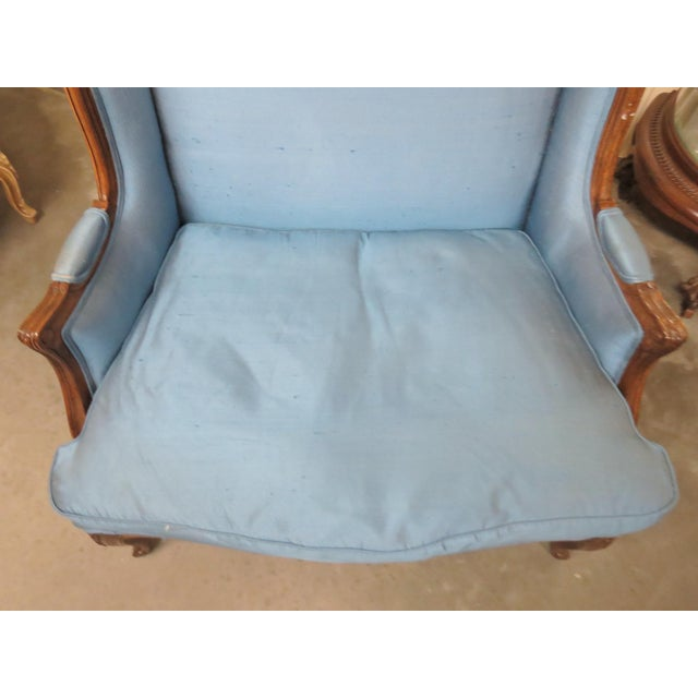 Louis XVI Style Upholstered Bergeres - Image 4 of 5