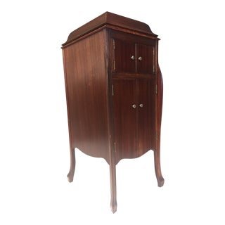 Antique Victrola Wood Record Player Cabinet