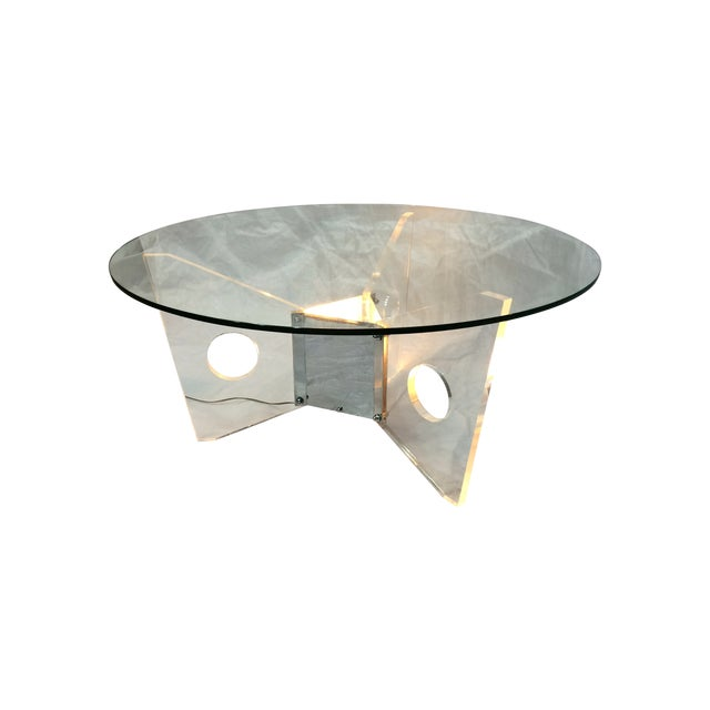 Light-Up Lucite Coffee Table - Image 1 of 9