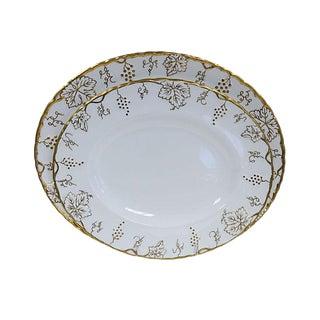 Crown Derby Gilded Vine Platters - Pair