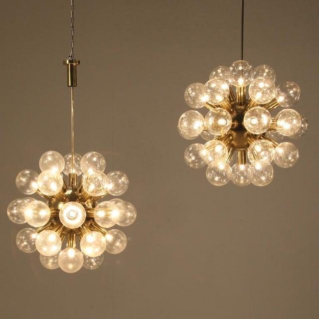 Several Robert Haussmann Brass Sputnik Pendants Holding Twenty Eight Bulbs - Image 2 of 10