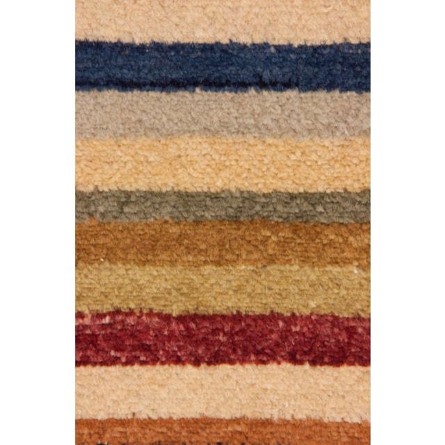 """Gabbeh Hand Knotted Area Rug - 3'2"""" X 5'5"""" - Image 3 of 3"""