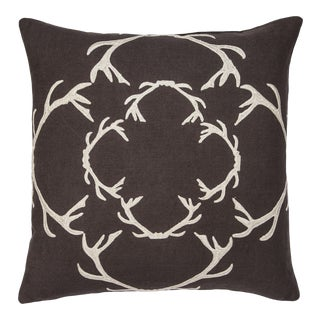 "Piper Collection Chocolate Linen ""Dasher"" Pillow"