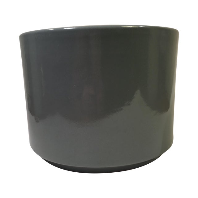 Vintage Gainey Planter in Slate Gray Gloss - Image 1 of 5