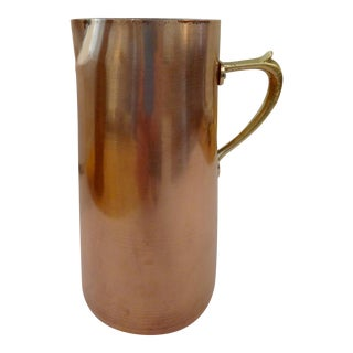 Brass & Copper Mid-Century Italian Pitcher
