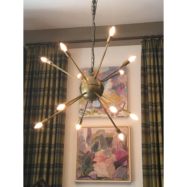 Image of Antique Brass Prato Chandelier