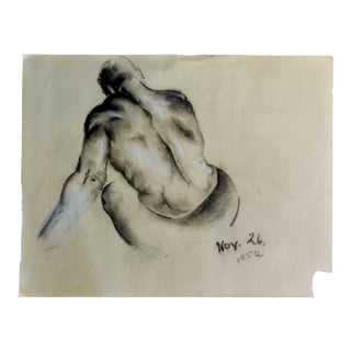 Graphite & Pastel Male Nude Drawing