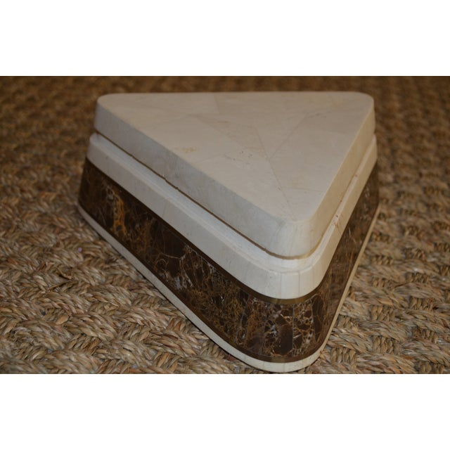 Triangle Tessellated Stone Trinket Box - Image 7 of 11