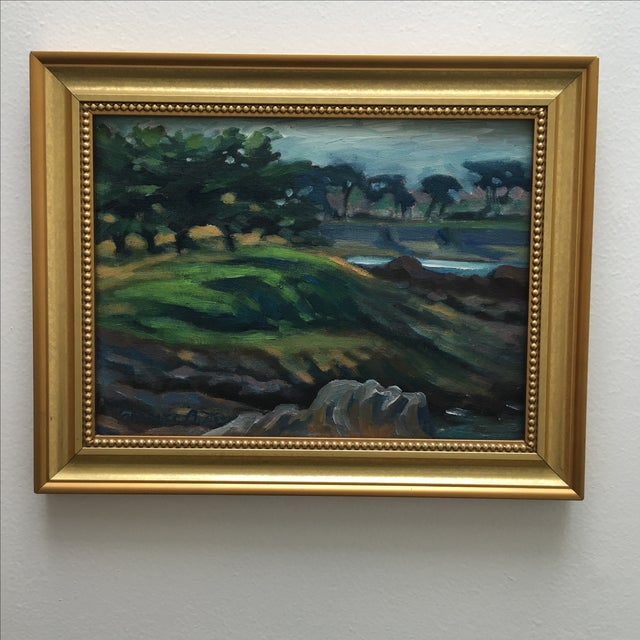 Abstract Seaside Landscape Painting Pacific Grove - Image 3 of 11