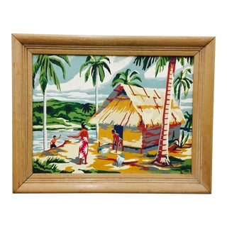 Vintage Island Scene Paint By Numbers