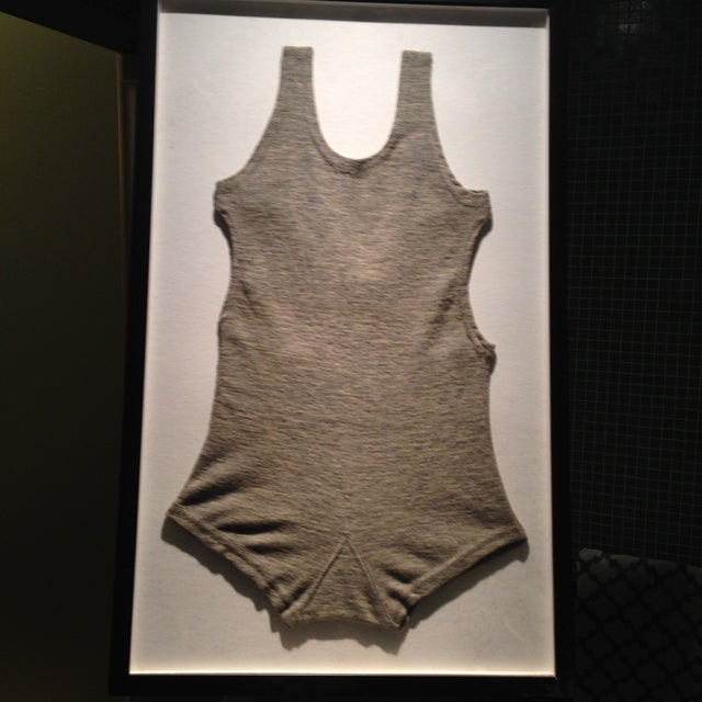 Framed 1930s Tahoe Men's One-Piece Bathing Suit - Image 2 of 2