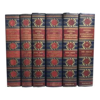 Navy & Maroon Books - Set of 6