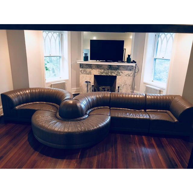 Roche Bobois Leather Sectional Sofa - Image 2 of 11