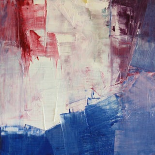 Red, Purple, Blue & White Abstract Painting