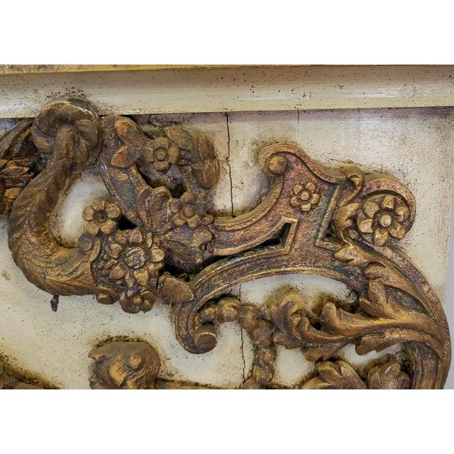 Antique Italian 19th Century Carved Wood Gilded Cherub Putti Panel - Image 7 of 11