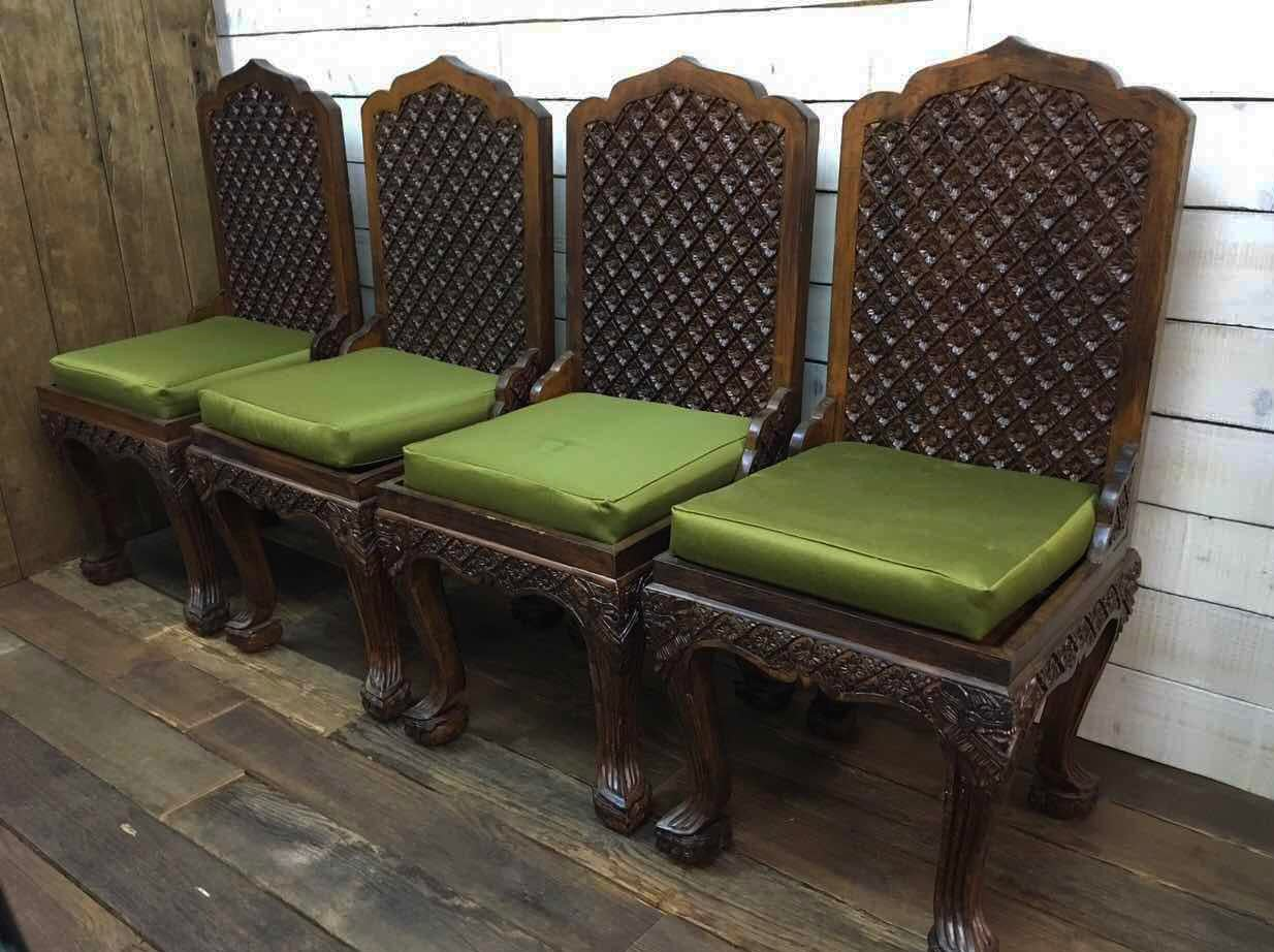 Asian Hand Carved Dining Chairs, Massive Ornate   Set Of 6   Image 2 Of