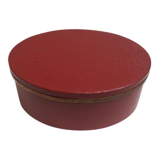 Contemporary Coral Red Lacquered Box